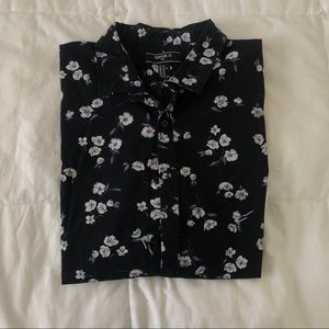 S/S Floral Button Up